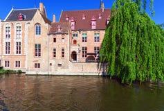 Dijver canal, Bruges, Belgium Stock Photos