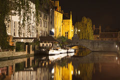 The Dijver Canal in Bruges Royalty Free Stock Images
