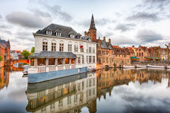 Dijver canal in Bruges, Belgium Royalty Free Stock Photo