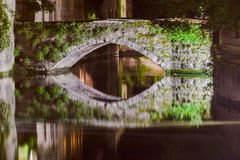 Dijver Canal in Bruges Belgium Royalty Free Stock Images