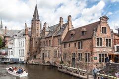 Dijver Canal in Bruges Belgium Stock Photography