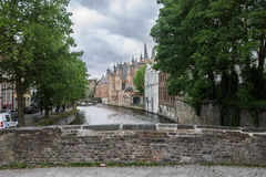Dijver Canal in Bruges Belgium Stock Photos