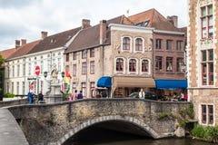 Dijver Canal in Bruges Belgium Royalty Free Stock Image
