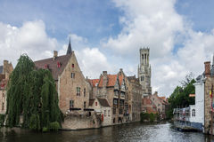 Dijver Canal in Bruges Belgium Stock Photography