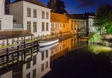 Dijver Canal in Bruges Belgium Stock Image