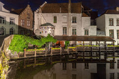 Dijver Canal in Bruges Belgium Royalty Free Stock Photography