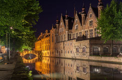 Dijver Canal in Bruges Belgium Stock Images