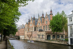 Dijver Canal in Bruges Belgium Royalty Free Stock Photo