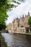 Dijver Canal in Bruges Belgium Royalty Free Stock Image