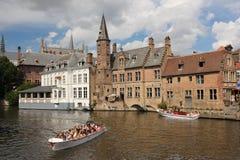Dijver canal. Bruges. Belgium Royalty Free Stock Images