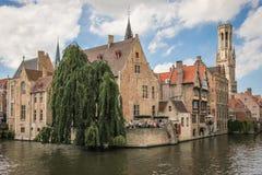 Dijver canal. Bruges. Belgium Stock Photo