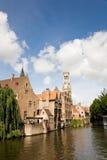 Dijver canal, Brugge stock photography