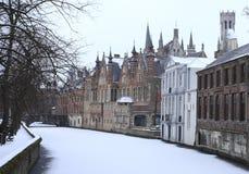 Dijver kanał w Bruges Obraz Stock