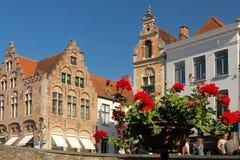 Dijver street. Bruges. Belgium Royalty Free Stock Photo