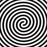 Dik zwart dubbel spiraalvormig symbool Eenvoudig vlak vectorontwerpelement stock illustratie