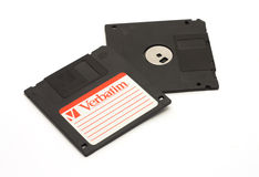 DIKANKA, DE OEKRAÏNE - NOVEMBER 26, 2015: De diskettes werden gebruikt voor Stock Fotografie
