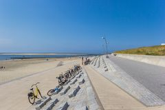 Along the sea on the island of Borkum. Germany stock photography