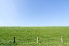 Dike. In North Frisia, Germany stock photo