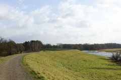 Dike of the river Elbe Stock Photo