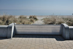 Dike wall. Of metal near Timmendorfer Strand baltic sea Royalty Free Stock Images