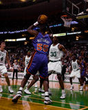 Dikembe Mutumbo,纽约尼克斯队 免版税库存图片