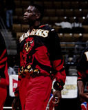 Dikembe Mutumbo, falcões de Atlanta Imagem de Stock Royalty Free
