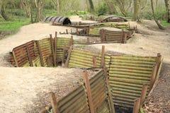 Diken Flanders sätter in Ypres stort världskrig Fotografering för Bildbyråer