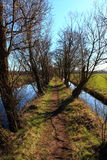 Dikepath in Holland, Netherlands Royalty Free Stock Images