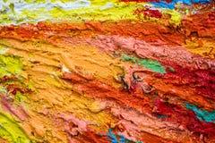 Dikke dichte lagen van verf als abstract modern slordig textuurklopje Stock Foto's
