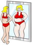 Dikke en dunne vrouw Stock Foto
