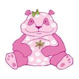 Dikke roze panda Stock Fotografie