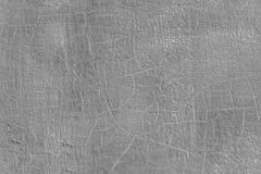 Dikke verse grijze olieverf op de vlakke naadloze textuur van de staaloppervlakte met oude barsten onder het royalty-vrije stock afbeelding