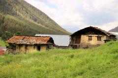 Diklo村庄, Tusheti地区(乔治亚) 图库摄影