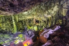 Dikteo Andro jama także znać jako narodziny miejsce Zeus w Crete, Grecja zdjęcia stock