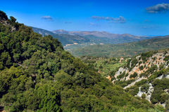 Dikti Mountains in Crete Island. Clear day Royalty Free Stock Photos