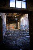 Dilapidated abandoned Detroit warehouse Stock Photos