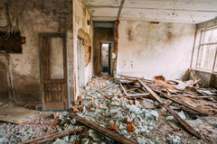 Dilapidated Abandoned House In Chernobyl Stock Photos