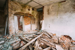 Dilapidated Abandoned House In Chernobyl Royalty Free Stock Photo