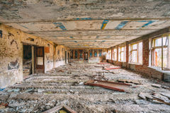 Dilapidated Abandoned House In Chernobyl Stock Images