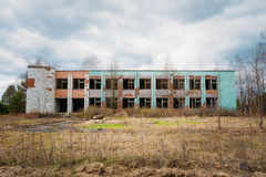Dilapidated Abandoned House In Chernobyl Royalty Free Stock Photos