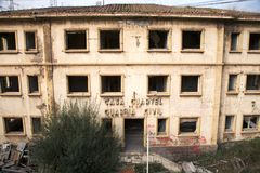 Dilapidated Ancient Police Station Stock Photography