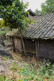 Dilapidated ancient wooden house,China Stock Photos