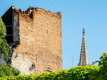 Dilapidated architecturale monumenten, Bratislava Royalty-vrije Stock Fotografie