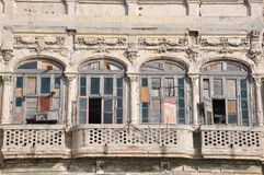 A dilapidated balcony in Havana, Cuba Royalty Free Stock Photography