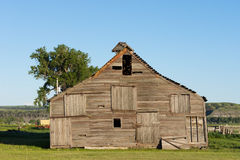 Dilapidated Barn from the Front Stock Photo