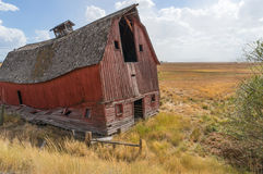 Dilapidated barn is ready to collapse Royalty Free Stock Photos
