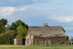 The Dilapidated Barn from the Side Stock Images