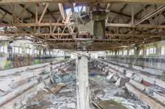 Dilapidated barrack Stock Image