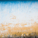 Dilapidated beige and blue wall texture Stock Photography