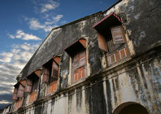 Dilapidated bouw Stock Fotografie